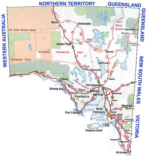 Living Travel Australia Sa Nt Map